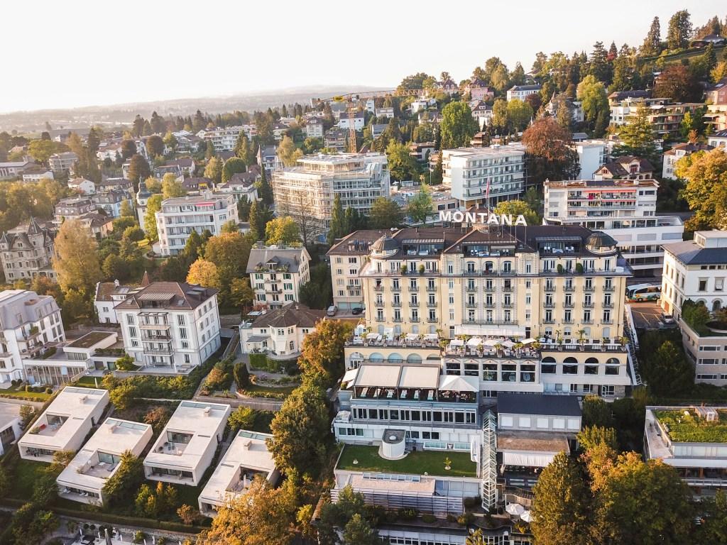 Art Deco Hotel Montana Drone View