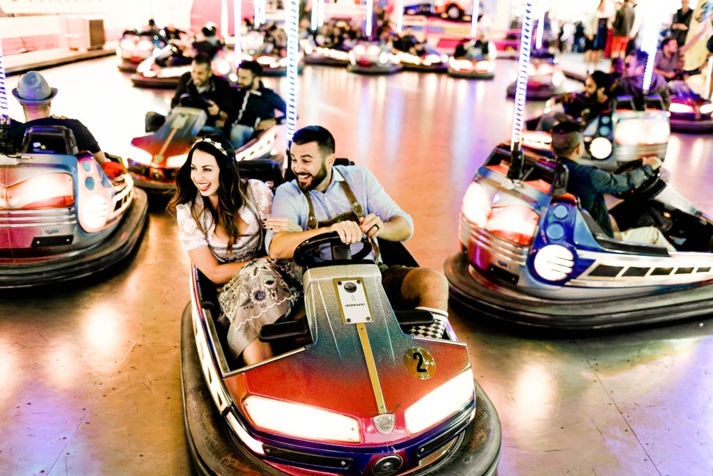Oktoberfest bumper cars, things to do at Oktoberfest