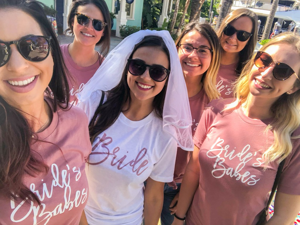 Bride's Babes shirts, bachelorette party ideas