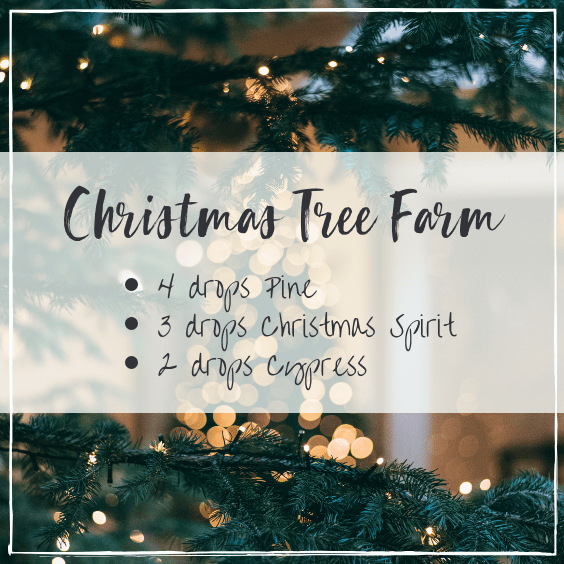 Christmas tree farm essential oil blend, diffuser blends for Christmas, #essentialoils #diffuserblends