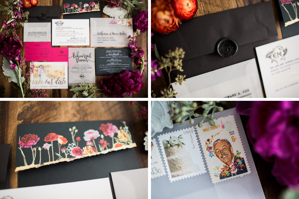 Wedding stationery inspiration, gothic glam wedding stationery, Florida fall wedding #weddinginspo #weddingstationery #weddingdesign