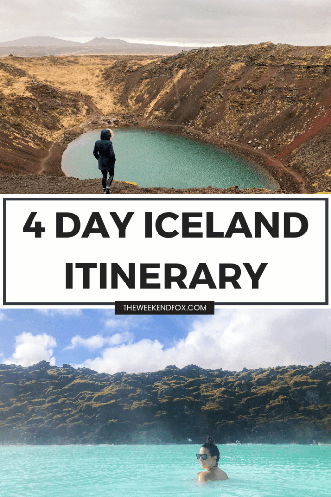 4 Day Iceland Itinerary, Iceland travel guide for 4 days, 4 days in Iceland, Reykjavik, Golden Circle Guide, Iceland tips, Iceland guide, Iceland inspiration, travel #travel #travelblog #iceland #icelandguide #icelanditinerary #visiticeland #reykjavik #theweekendfox