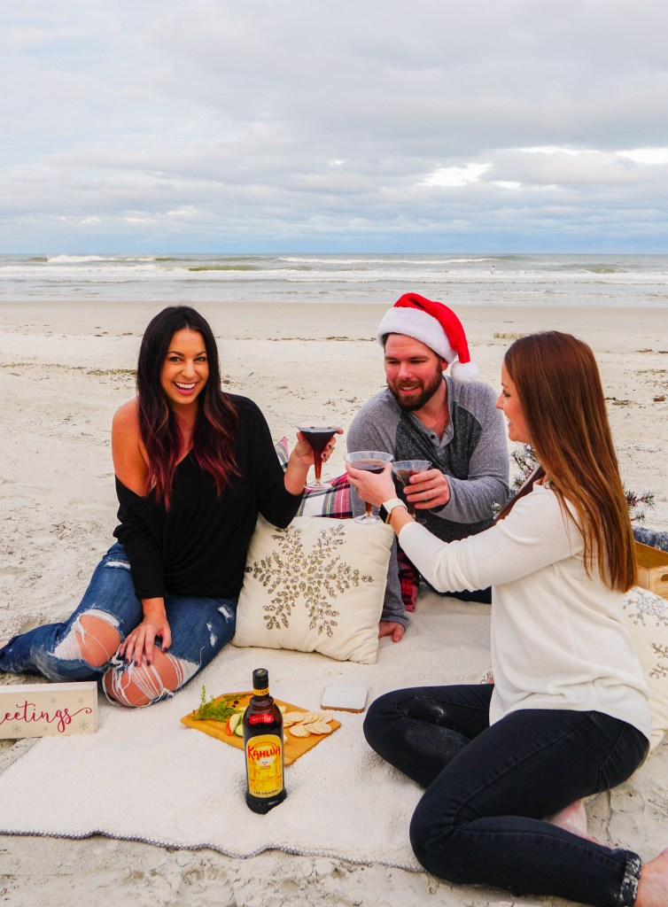 cold brew martini, date night on the beach, holidays with kahlua