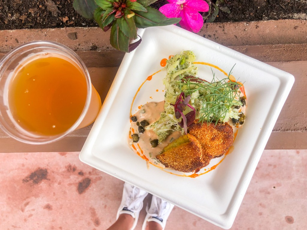 Fried green tomato at Epcot's Flower and Garden Festival 2019 - Arbor