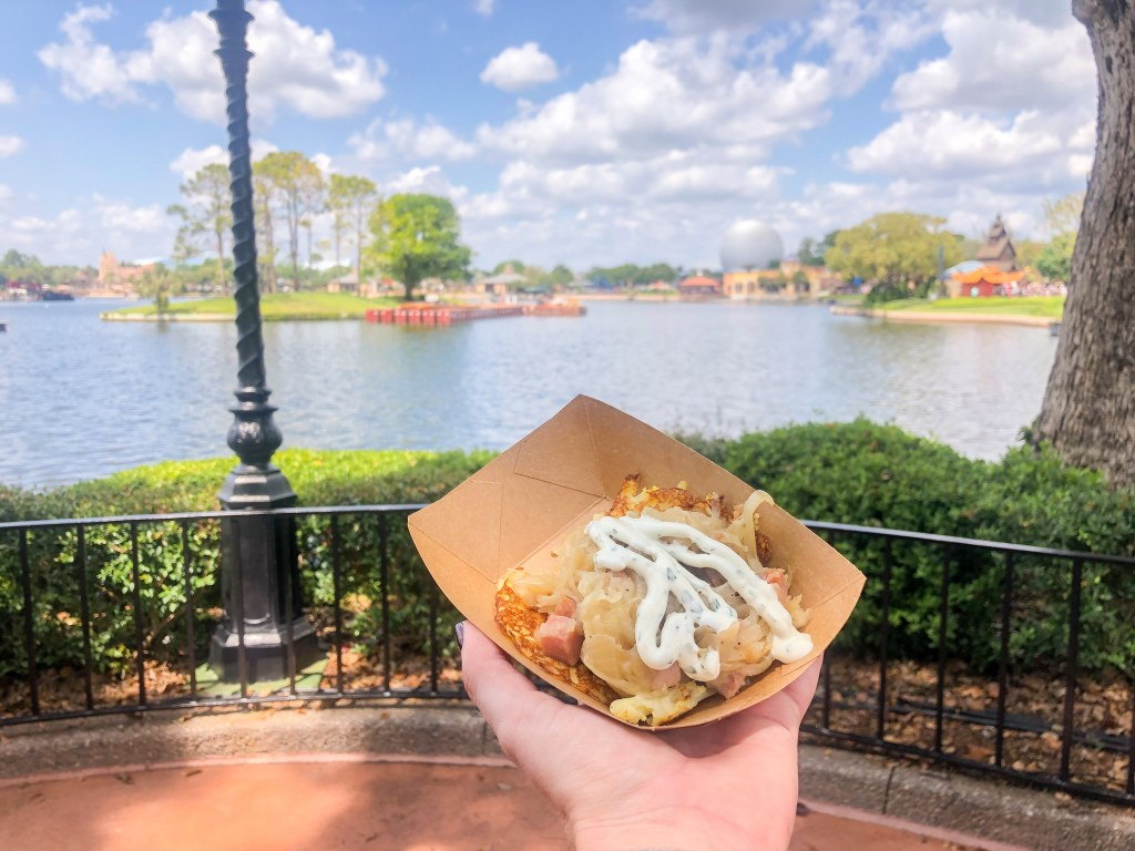 Potato Pancake at Bauernmarkt in Epcot