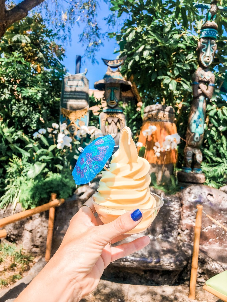 Dole Whip with an Umbrella at Disneyland in California
