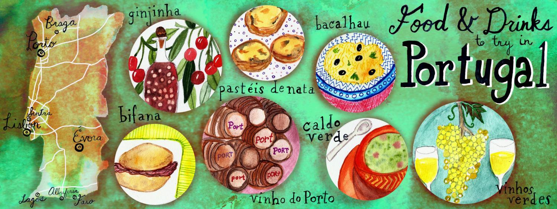 7 Portuguese Foods You Should Try - artwork by Shoshannah Hausmann