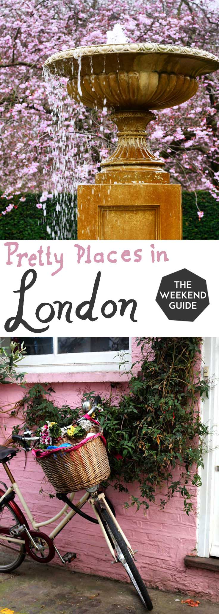 A bustling metropolis, London might not spring to mind when you think of pretty places. But there are plenty of beautiful areas to go for a wander in this fabulous city.  Here are some of my favorite pretty places in London. - theweekendguide.com