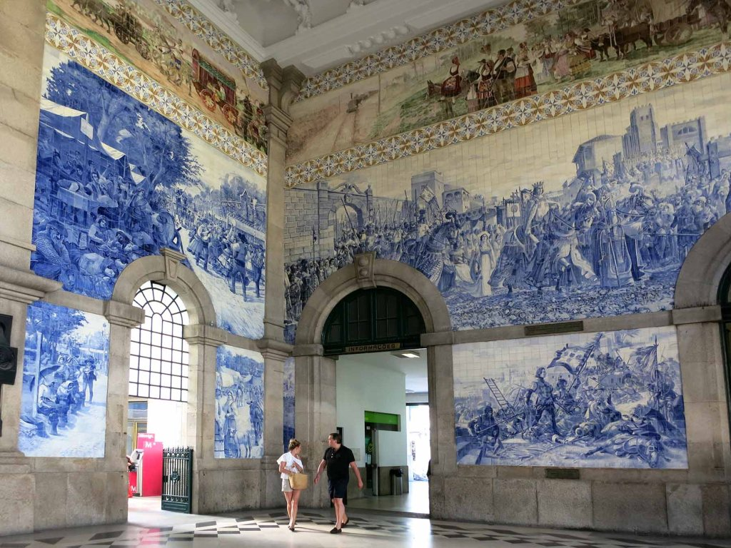 Portugal's Douro Valley is world famous as the place where the grapes for port wine are grown. The Douro valley is most easily accessed with a car. However it is possible to explore some of this stunning region via public transit with a bit of creativity.