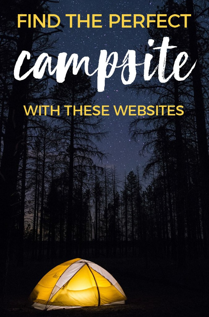 Find the Perfect Campsite with these Websites including photos & reviews