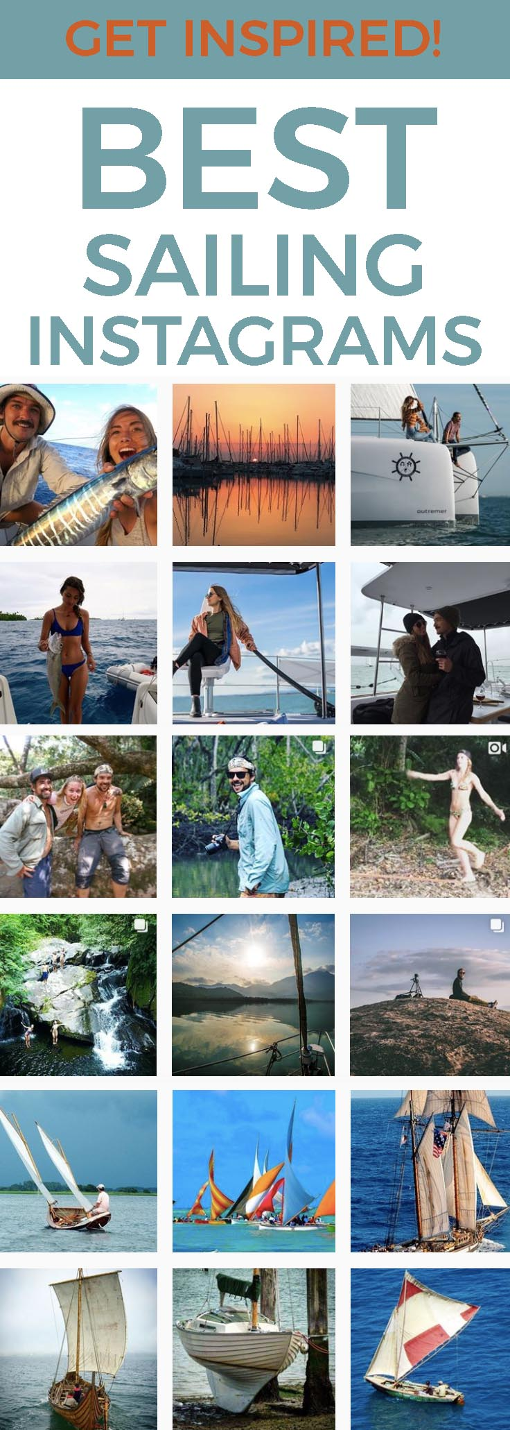 10 Sailing Instagrams to Inspire You- Enjoy beautiful blue water images and join in the adventures as these Instagrammers share their sailing adventures with us via Instagram and YouTube. Here are some of the best accounts we follow.