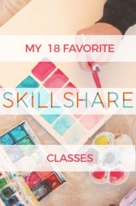 My 18 Favorite Skillshare Classes - I've been a member of Skillshare for a few years now and I've really enjoyed the classes I've taken.