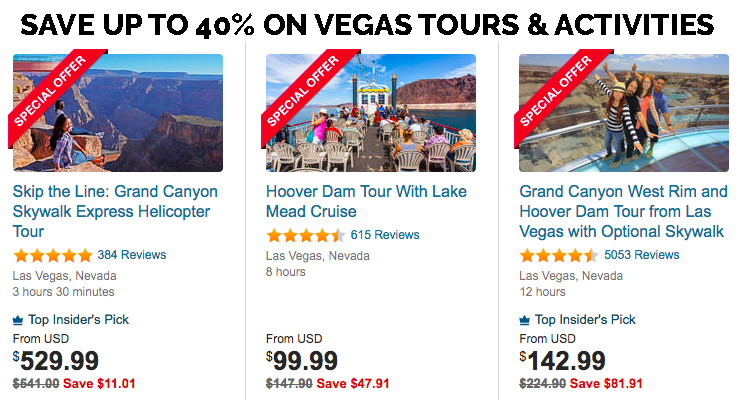 Book Vegas tours and activities