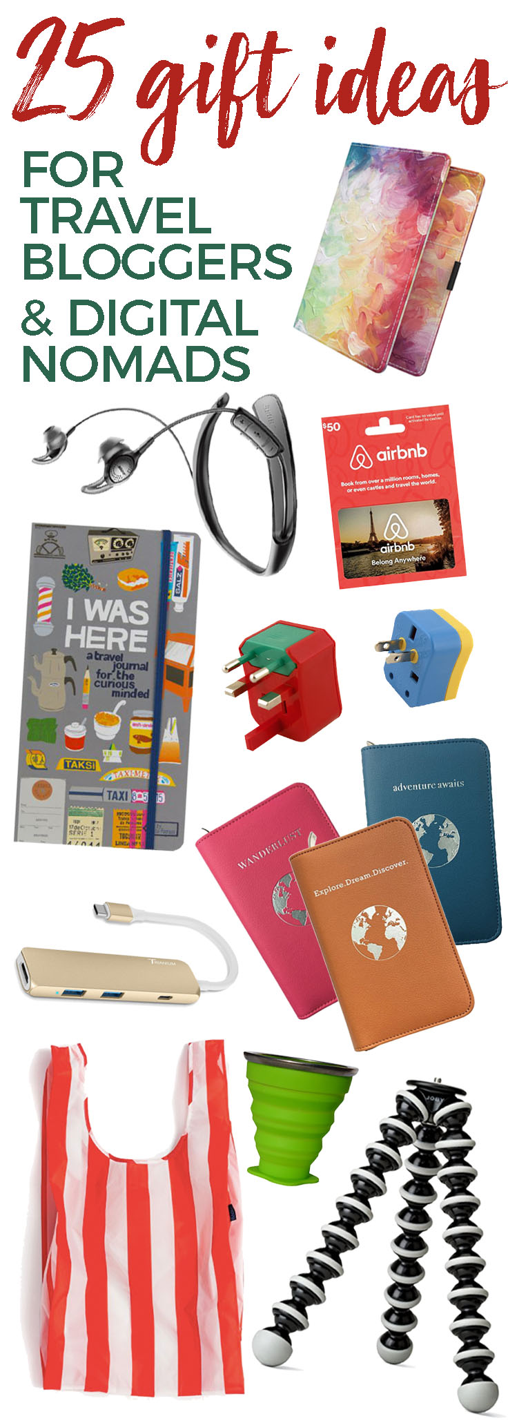 25 Gift Ideas for Digital Nomads & Travel Bloggers - theweekendguide.com