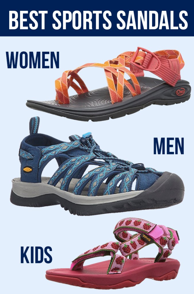 Best sandals for hiking & water sports for women, men, kids: Teva, Chacos, Keens