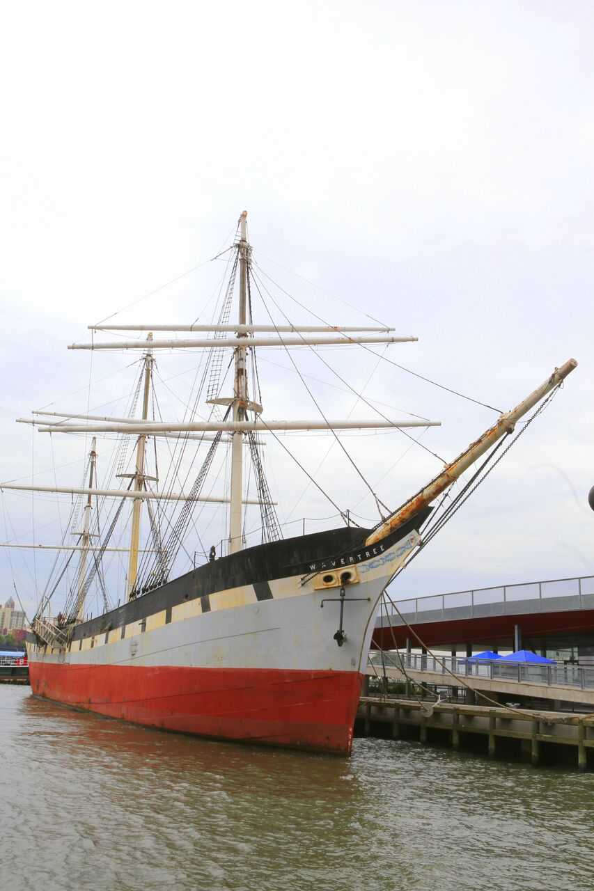 Exciting weekend event this Saturday with the return of the restored 1885 full-rigged cargo sailing ship Wavertree at Pier 16 in the East River
