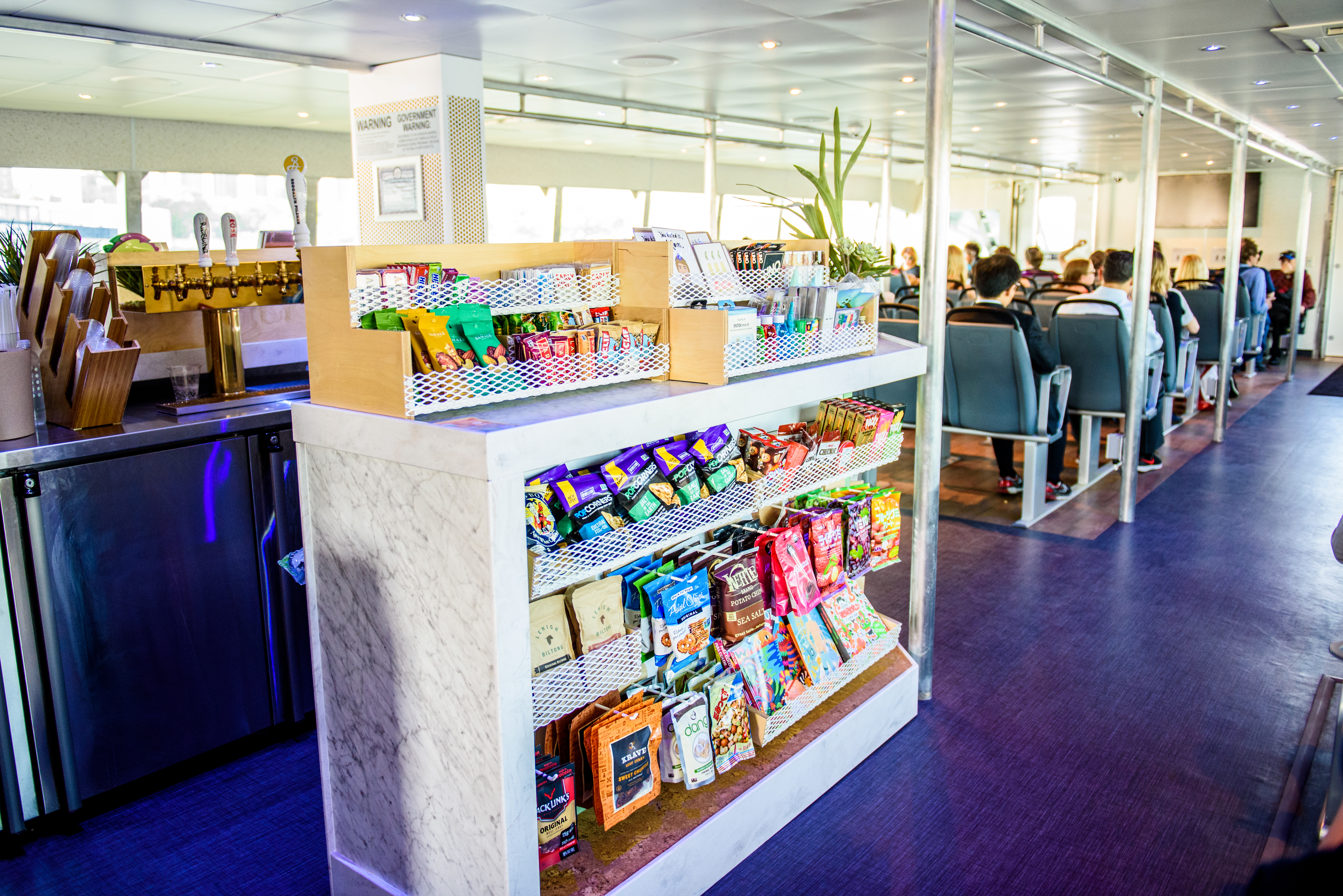 amazing snack bar on NYC Ferry to governors island