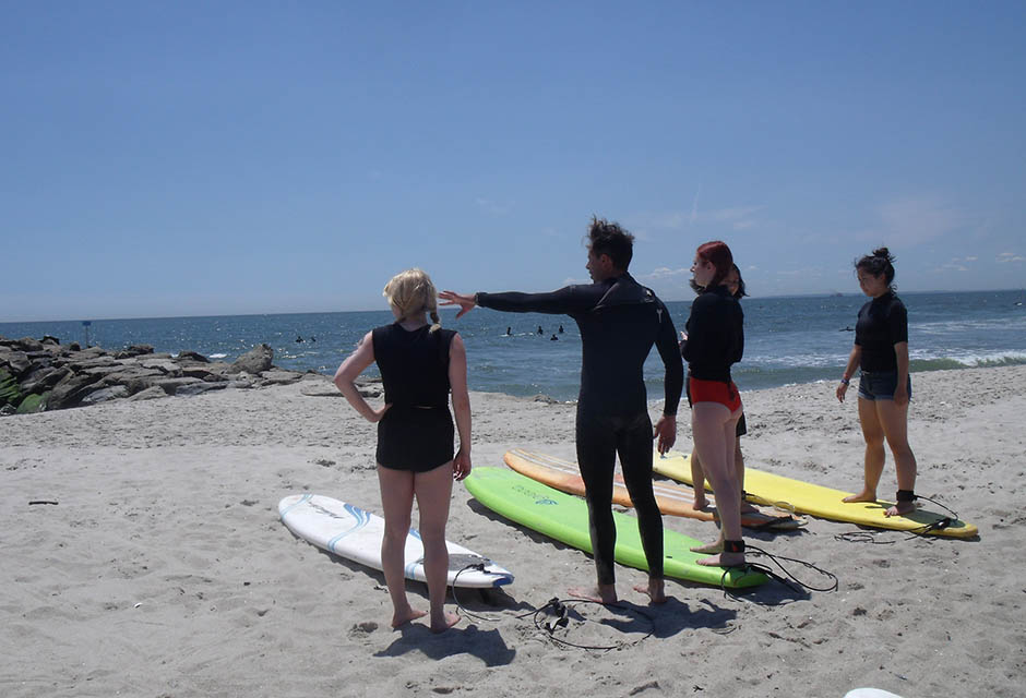 Aloha NYC Surf School surfing lessons ny