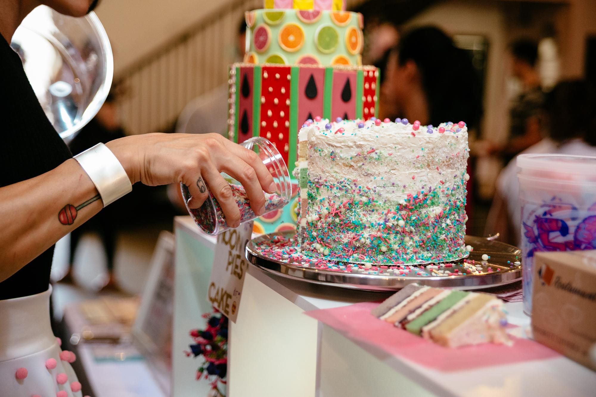 Delicious cake at Dessert Goals.