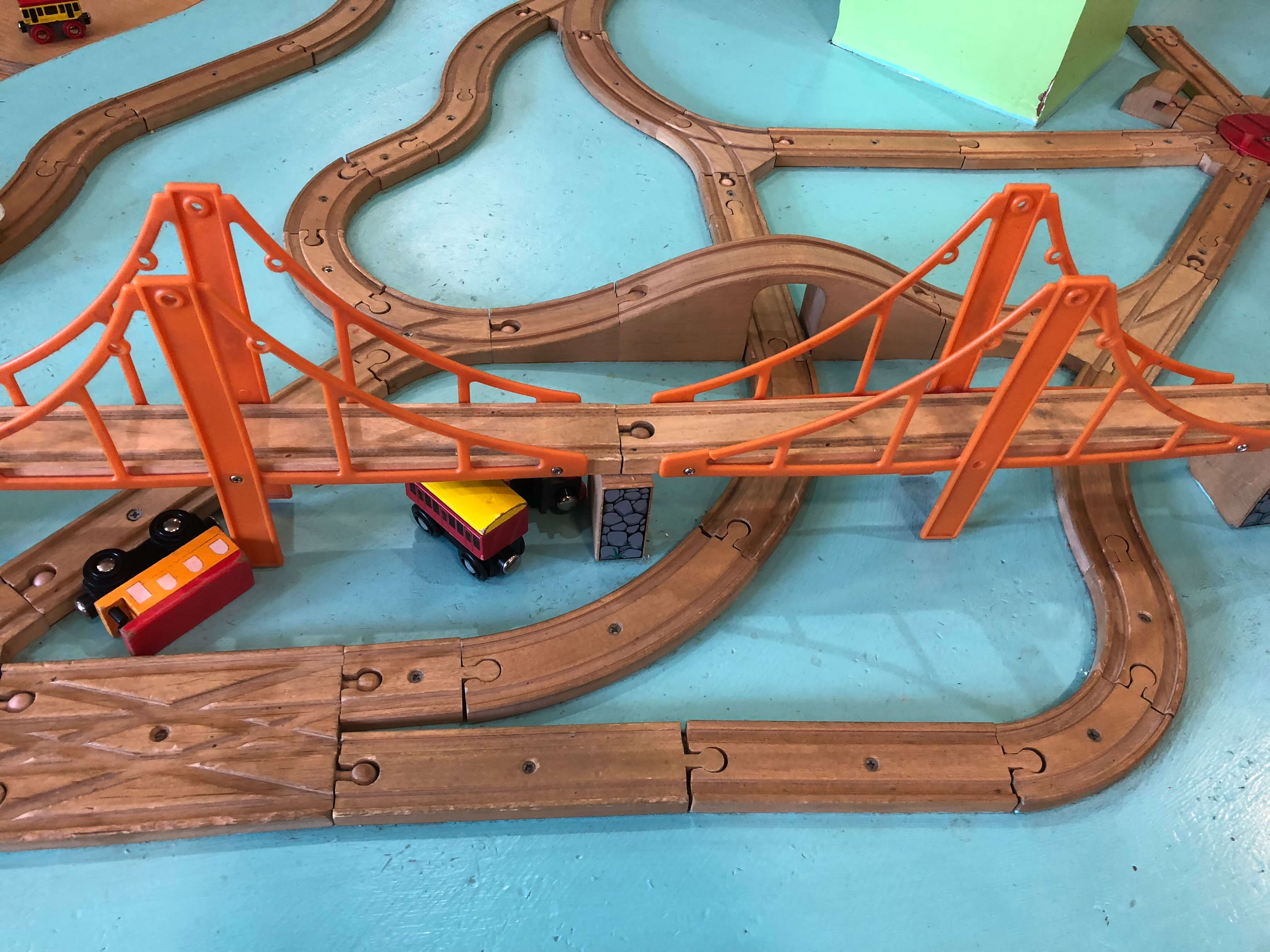 trains at the Mid-Hudson Children's Museum
