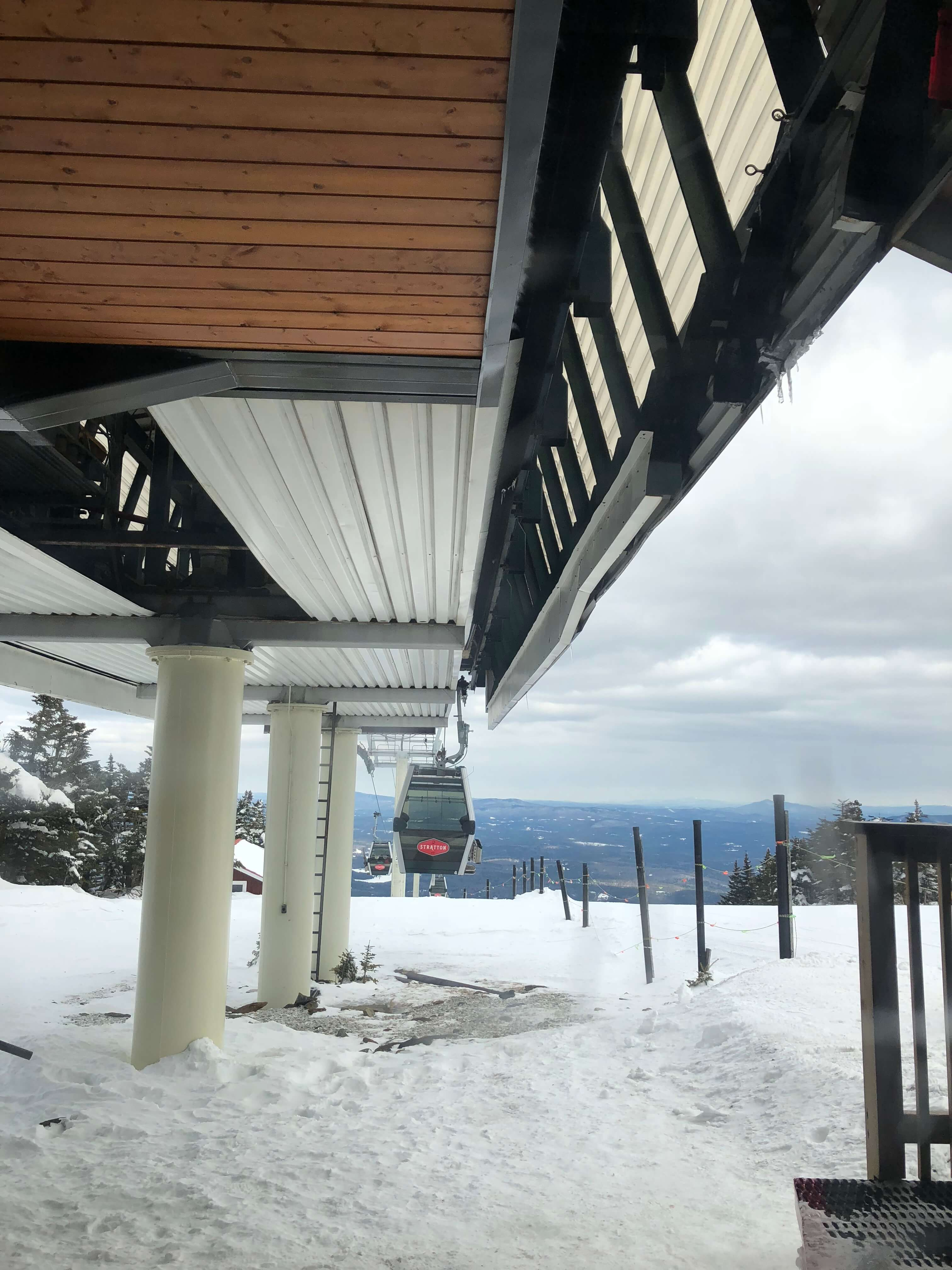 learning to ski as an adult at stratton mountain lift