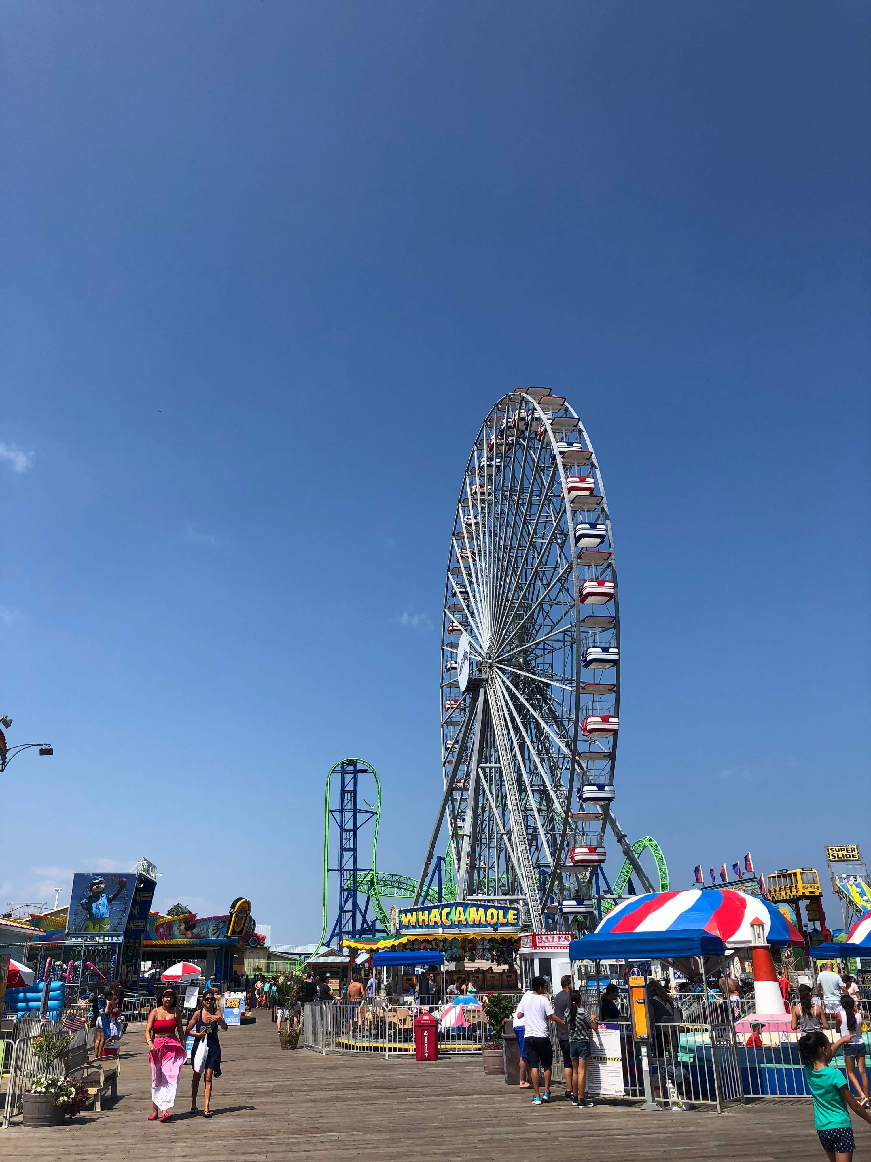 ferris wheel Casino Pier Breakwater Beach.