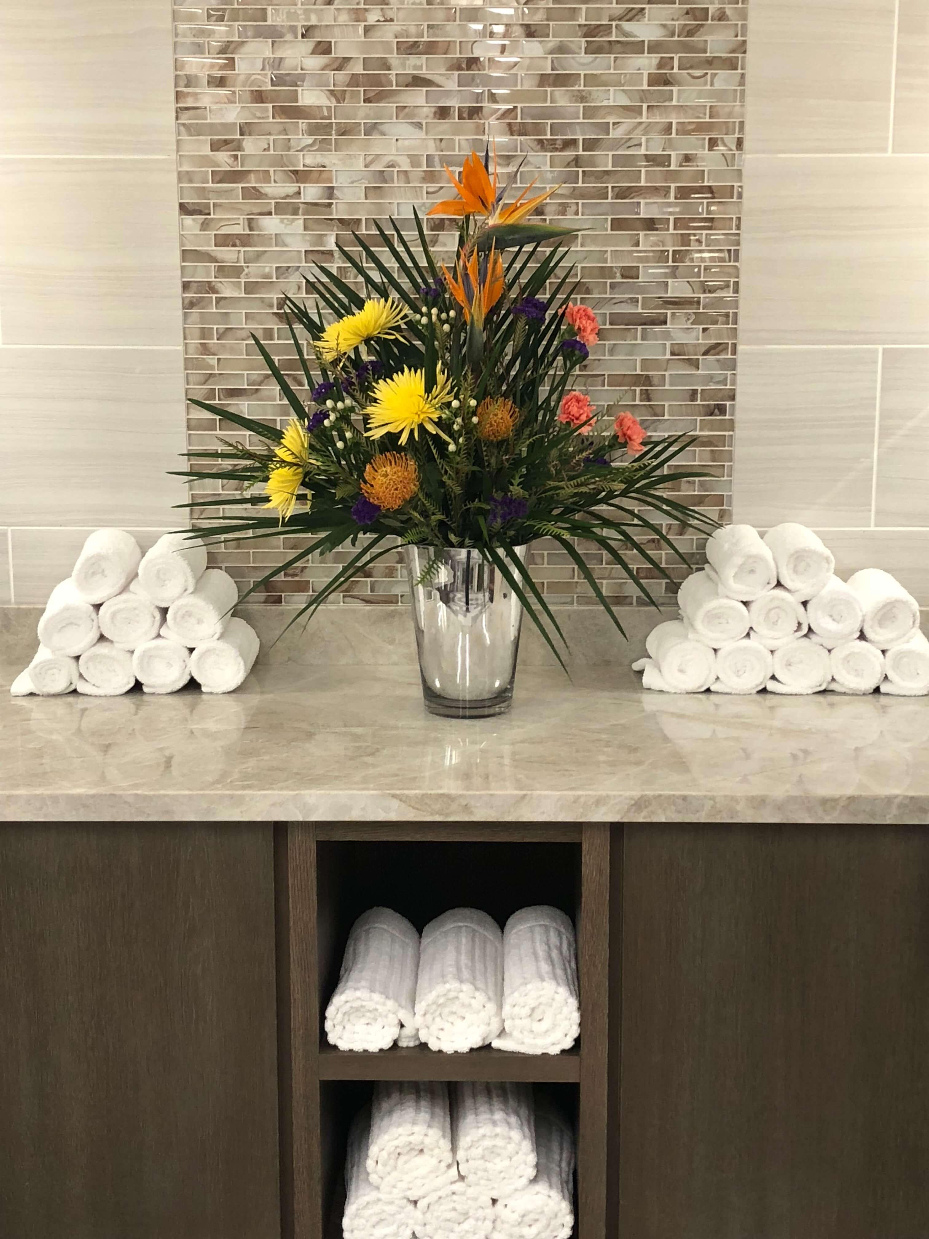 crystal life spa towels