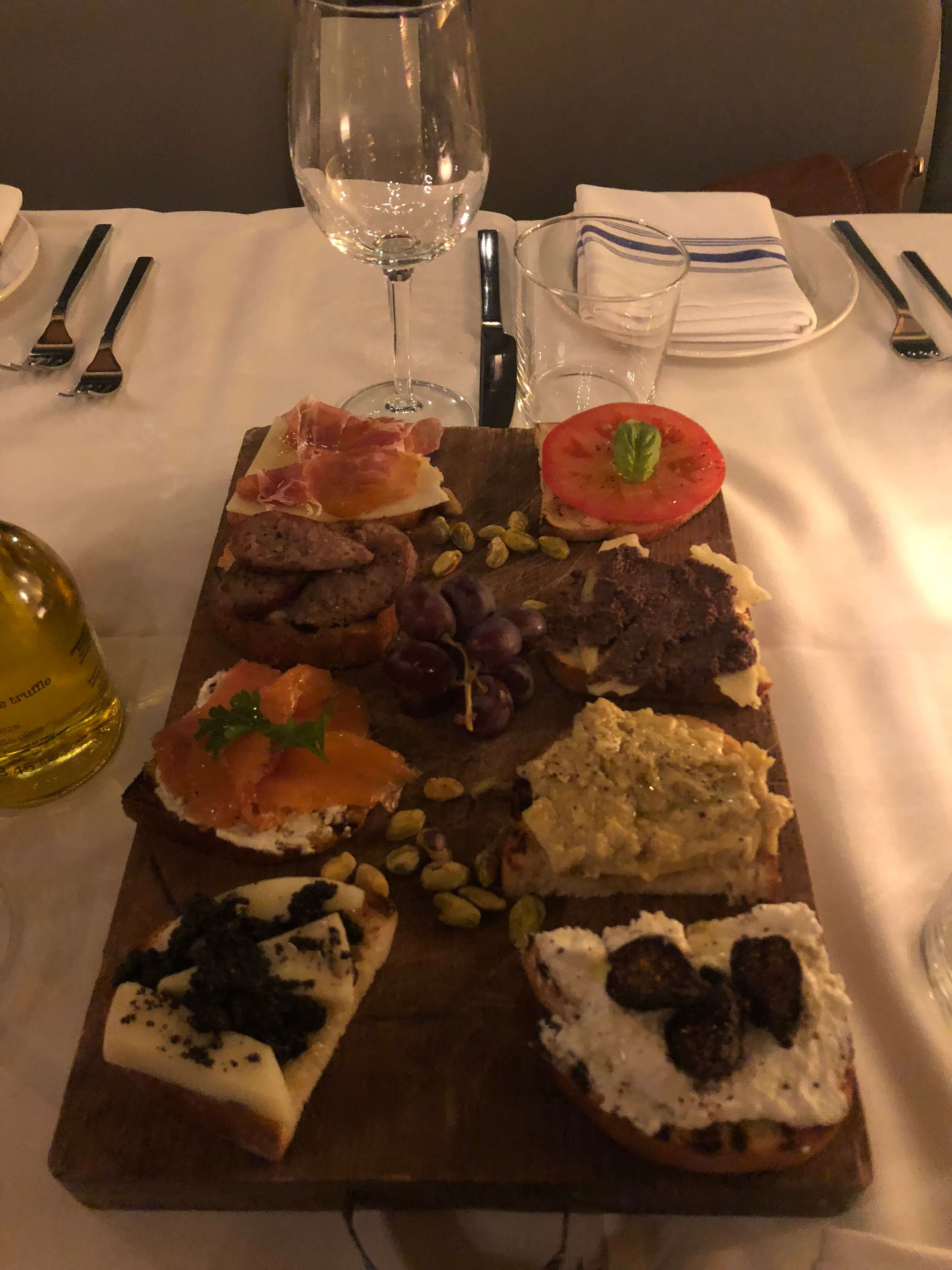 Delicious Options from Serafina Tribeca's Winter Menu brushetta