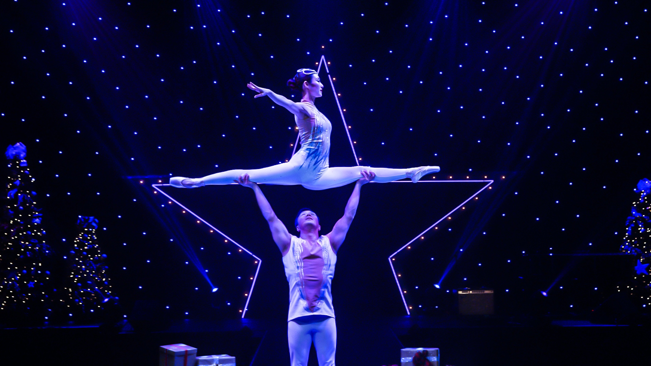 Gravity-Defying Acts and Tricks at A Magical Cirque Christmas
