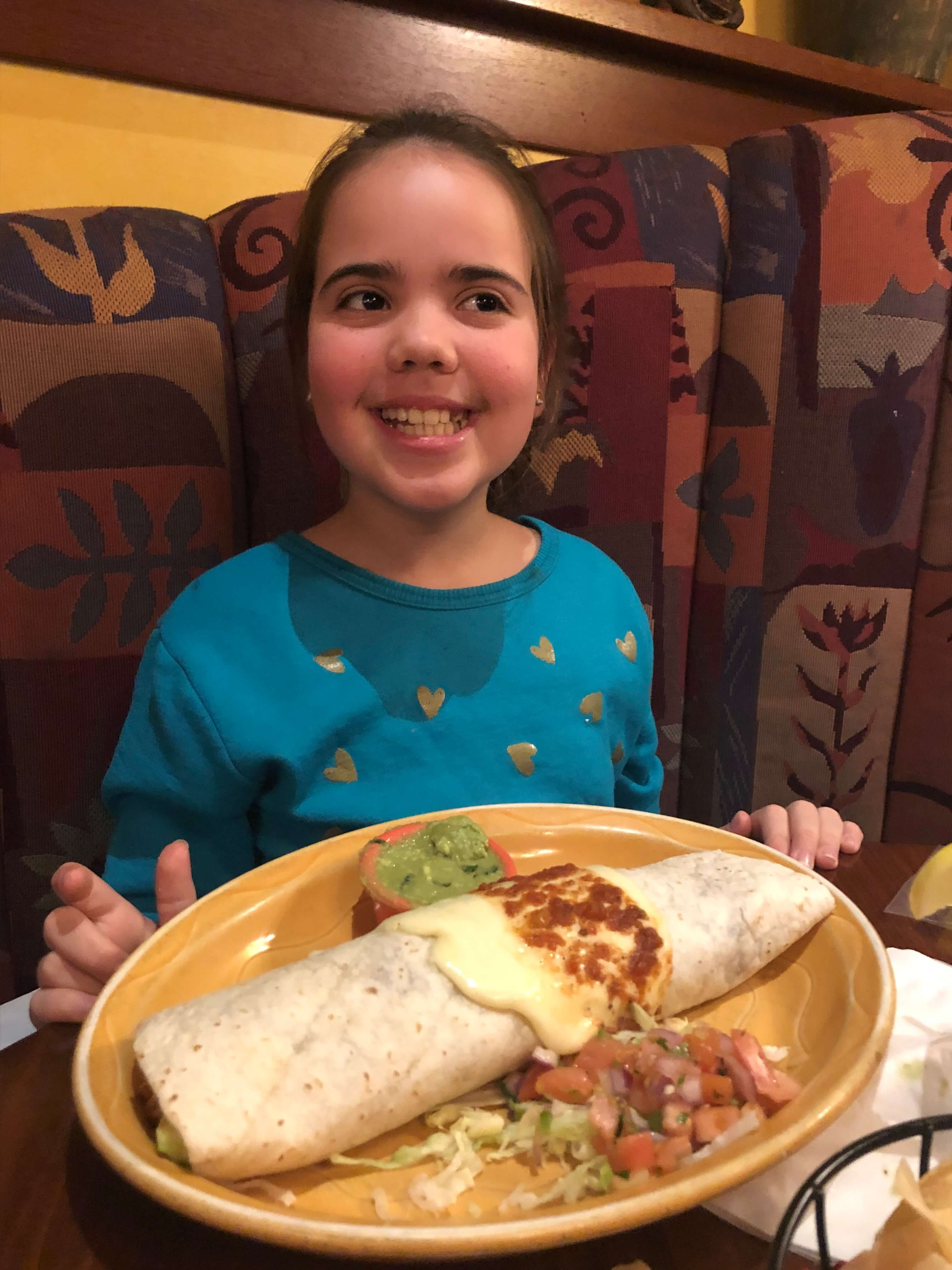 Giant Burrito at the Blue Moon Mexican Cafe Serves Up Delicious Mexican Fare for the Whole Family
