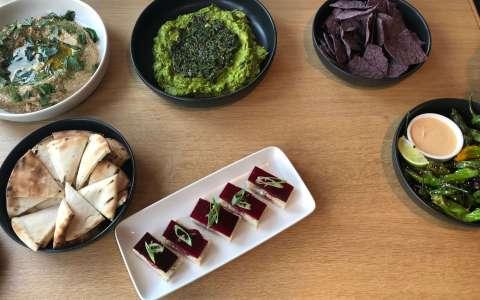 gluten-free spread at little beet table