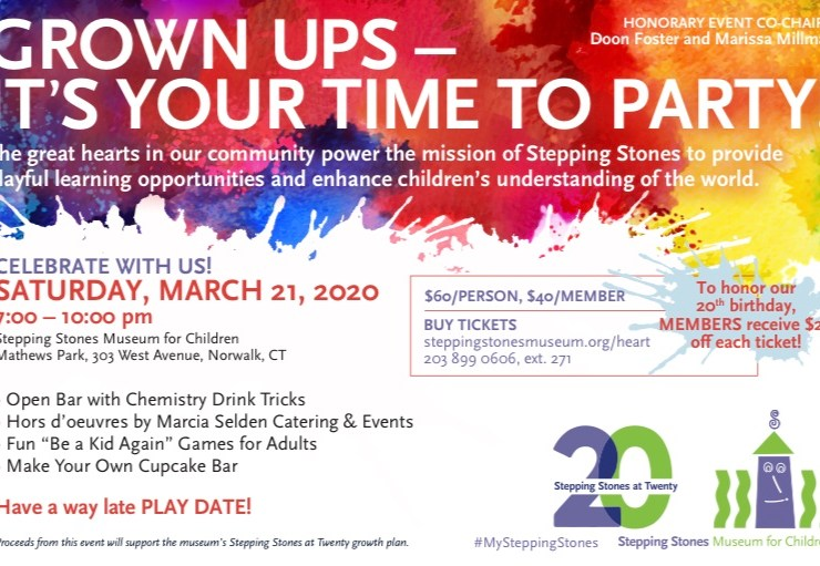 """Support Stepping Stones at the """"You Bring the Heart"""" 20th Birthday Bash"""