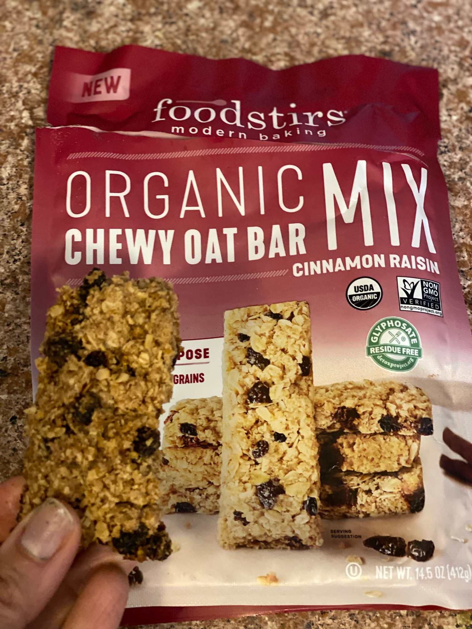Organic Chewy Oat Bar Mix foodstirs