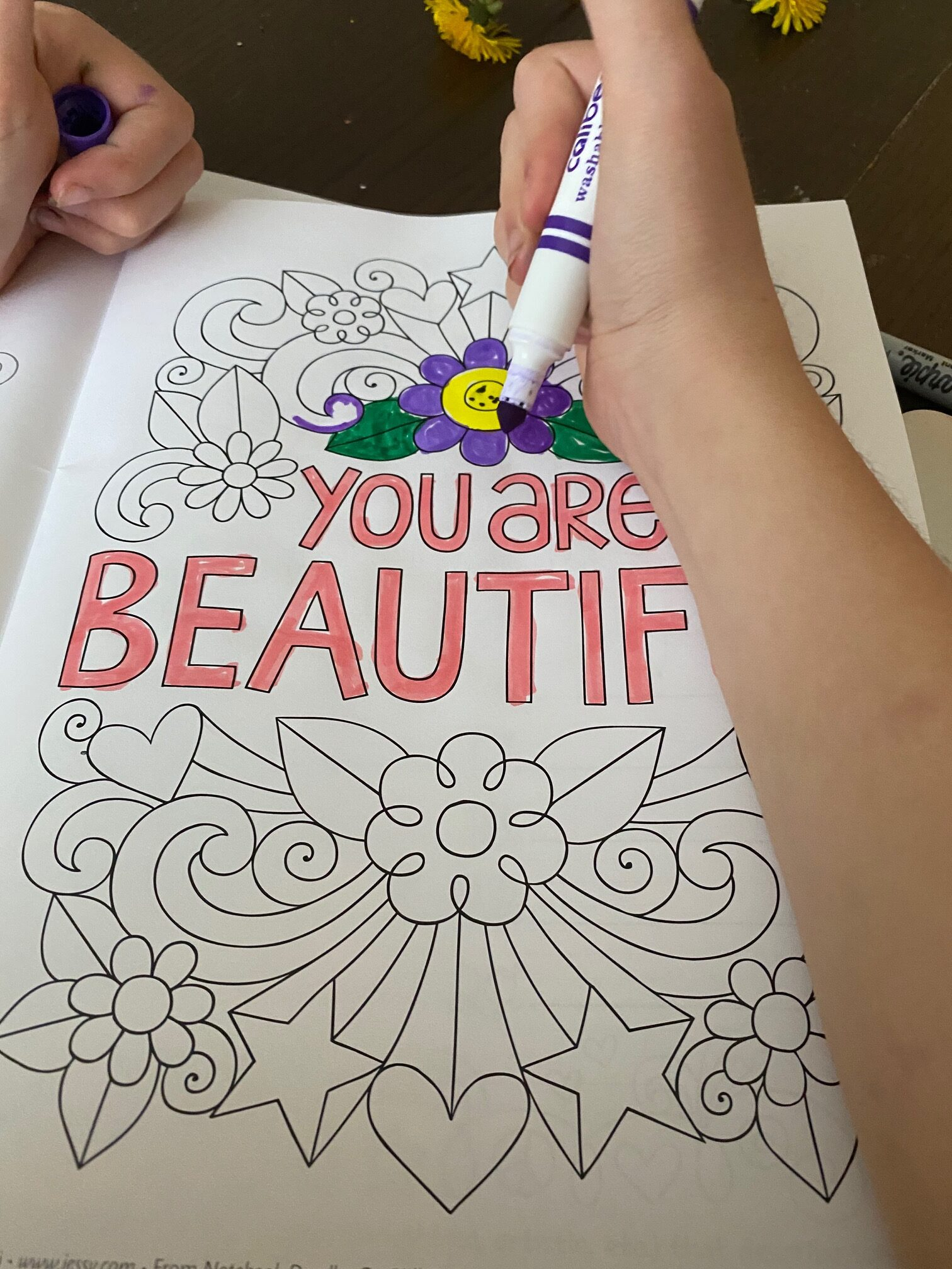Personalized Coloring Books for kids You are Beautiful