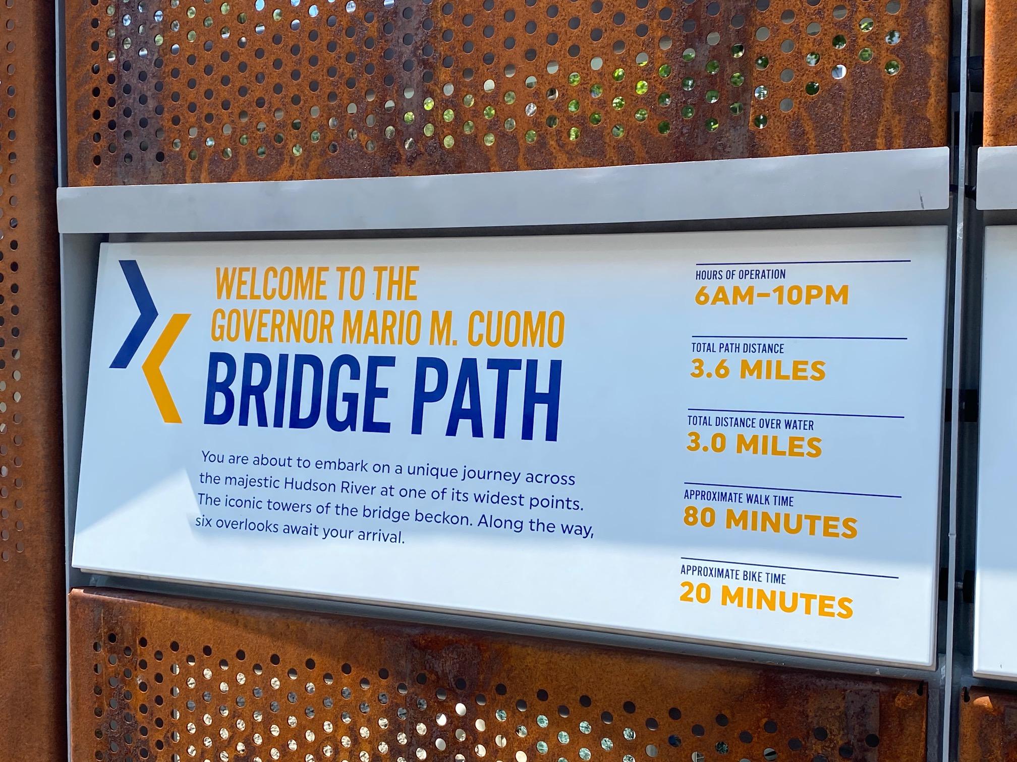 Governor Mario M. Cuomo Bridge Path
