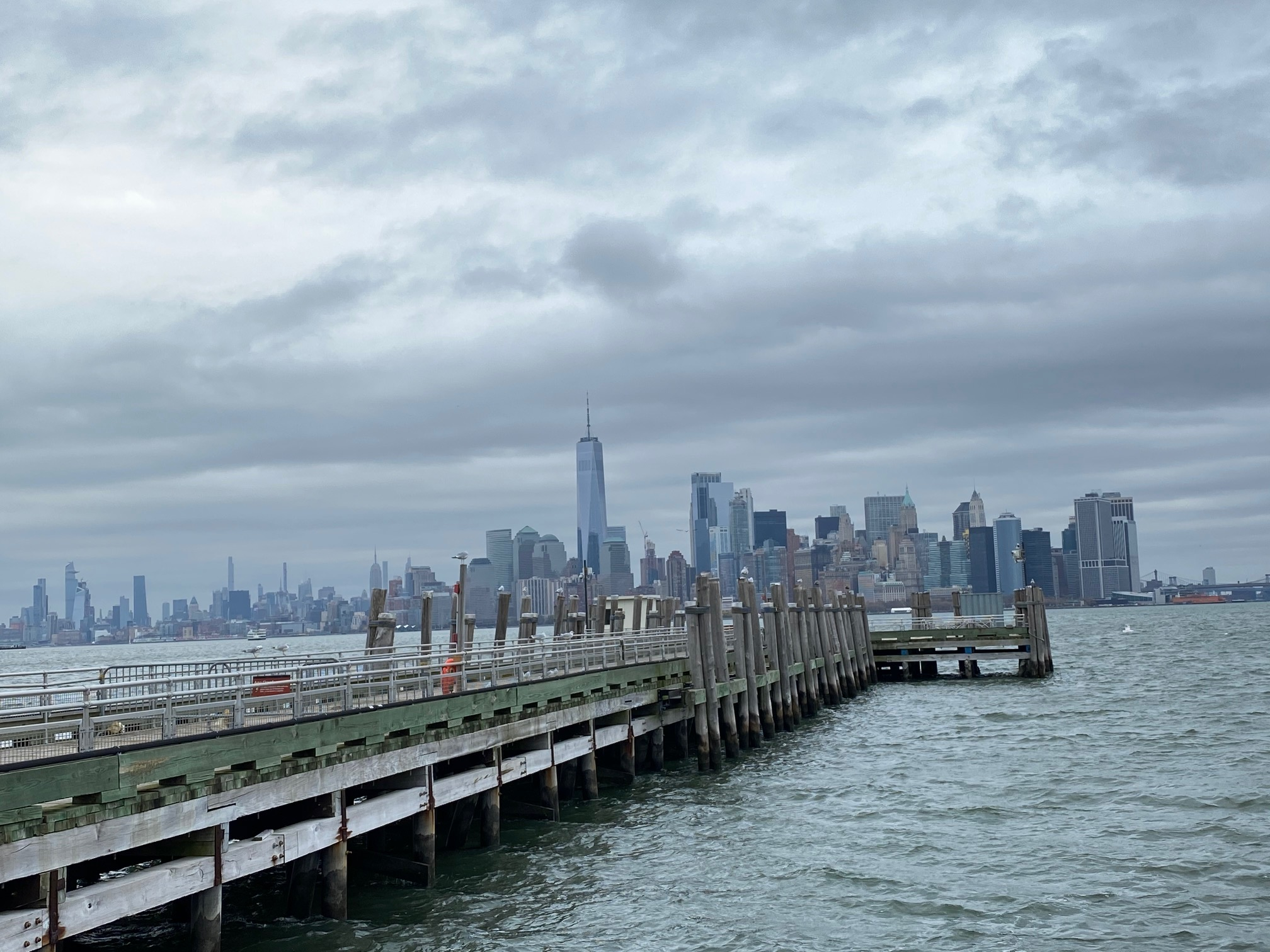 lower manhattan from Statue of Liberty