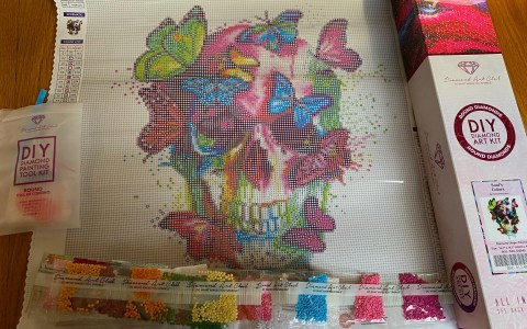 Diamond Art Club Skull kit