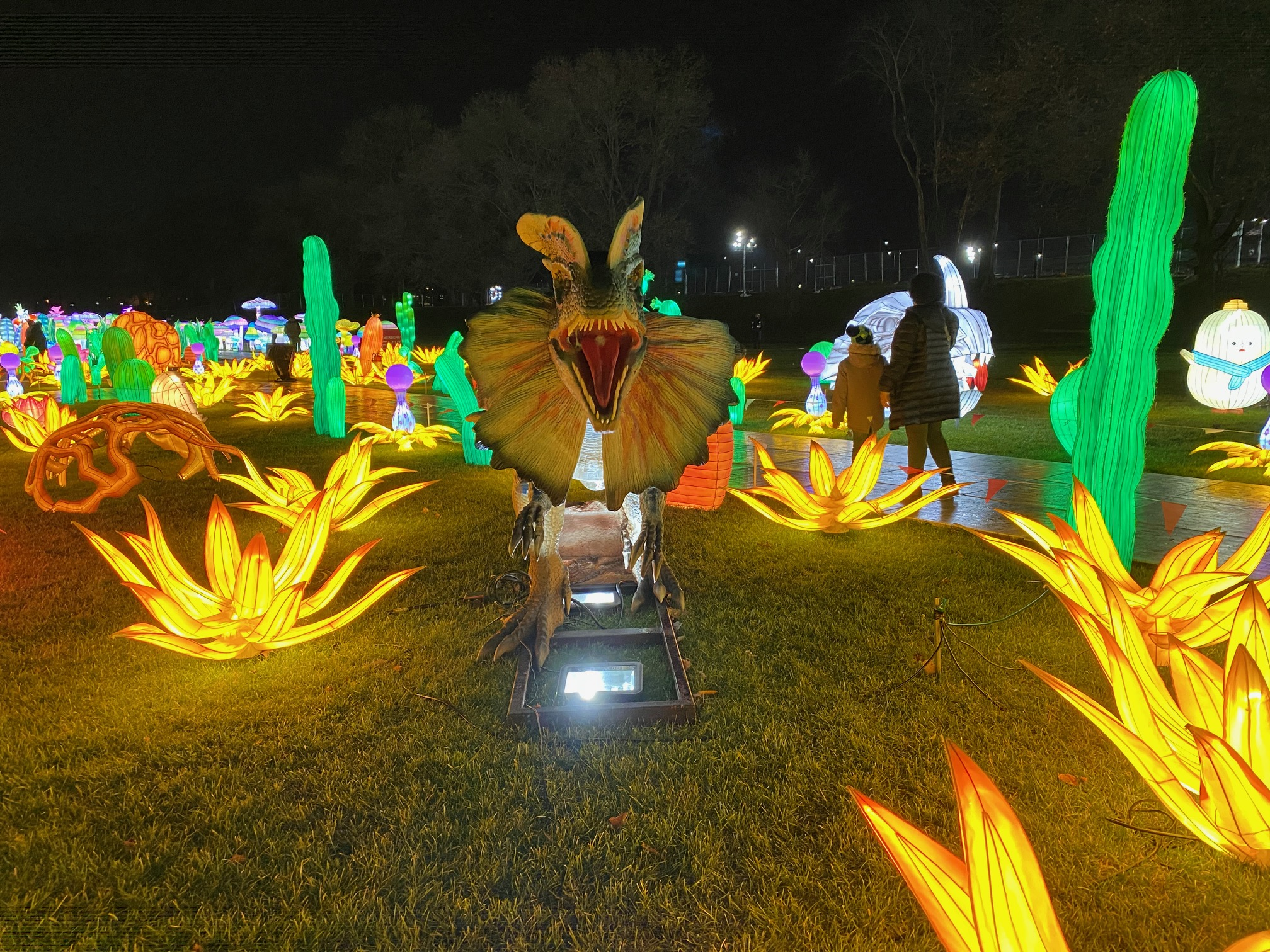 Enter the Magical World of the LuminoCity Festival dinosaurs