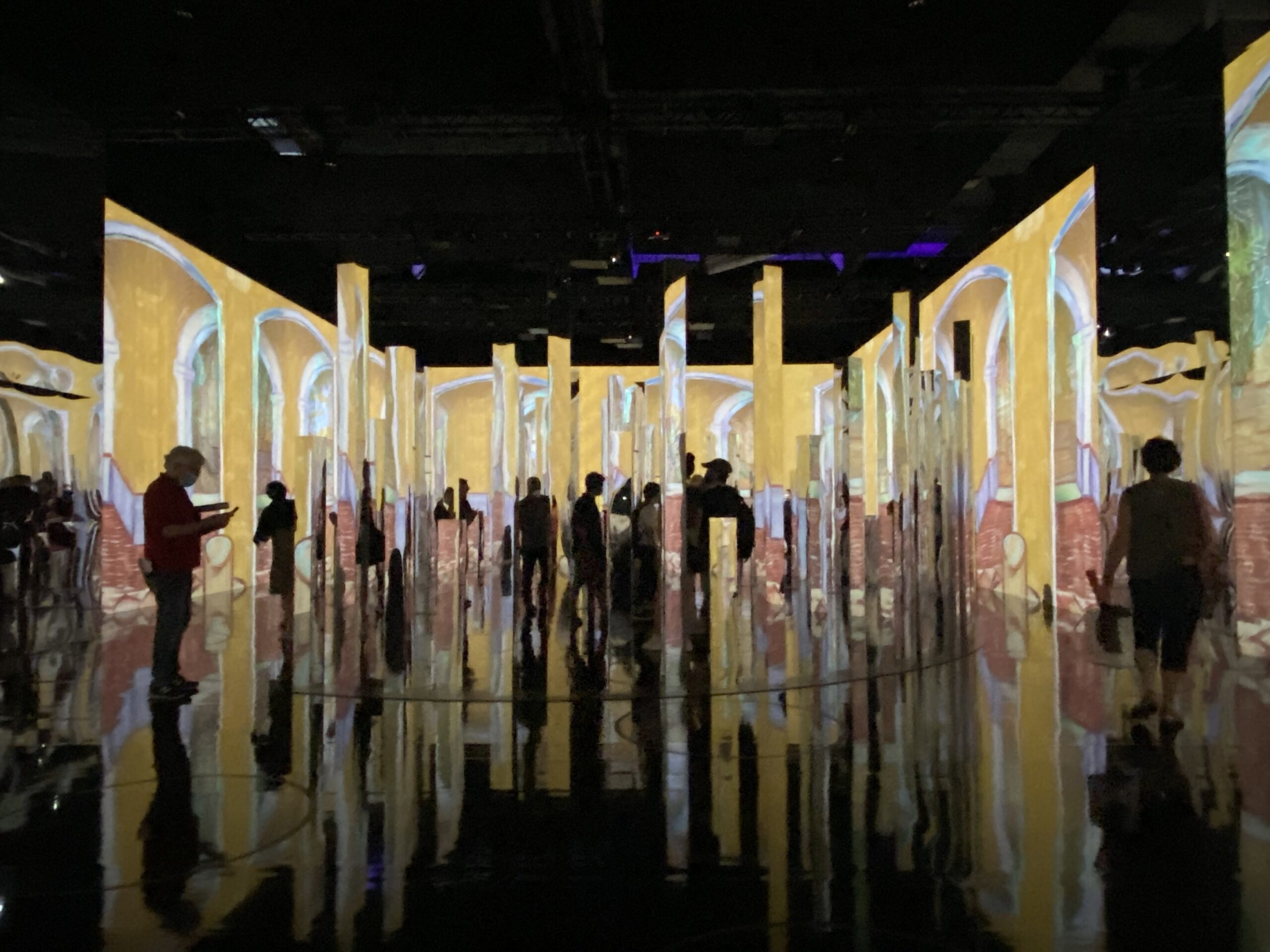 """""""Immersive Van Gogh Exhibit New York,"""" to view the digital art of Van Gogh on 500,000+ cubic feet of projections, 60,600 frames of video, and 90,000,000 pixels!"""