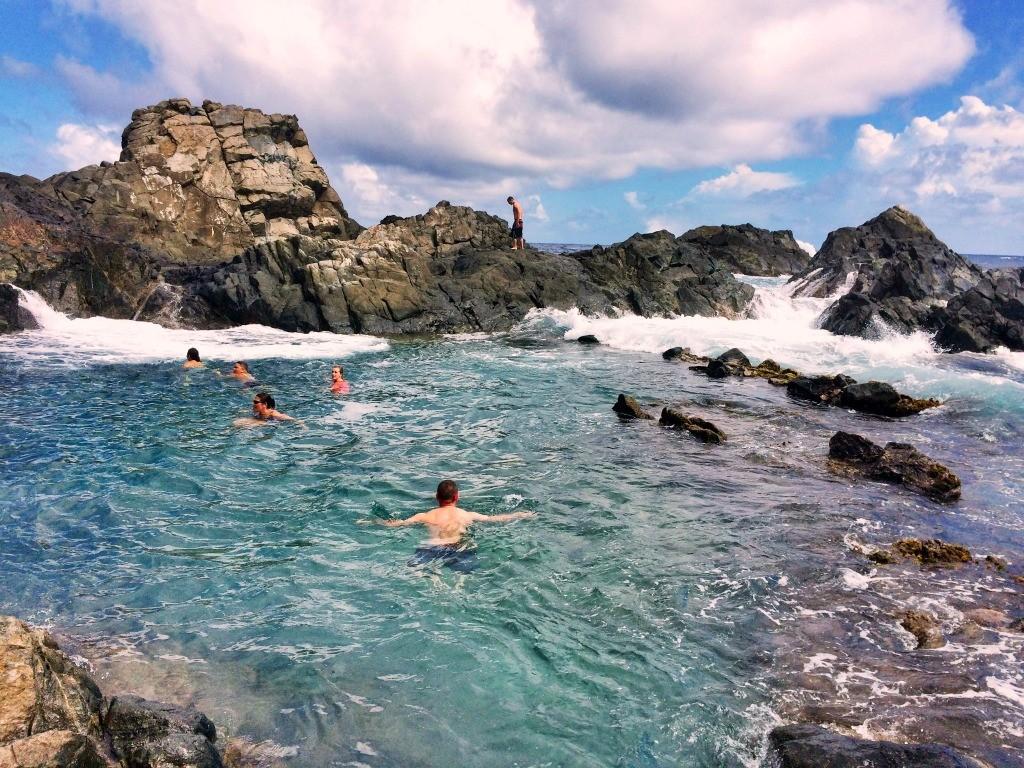 Natural Pool, 48 Hours in Aruba | TheWeekendJetsetter.com