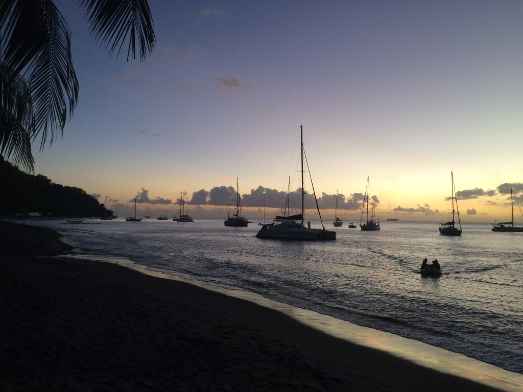 Sunset on Le Carbet black sand beach in Martinique // TheWeekendJetsetter.com