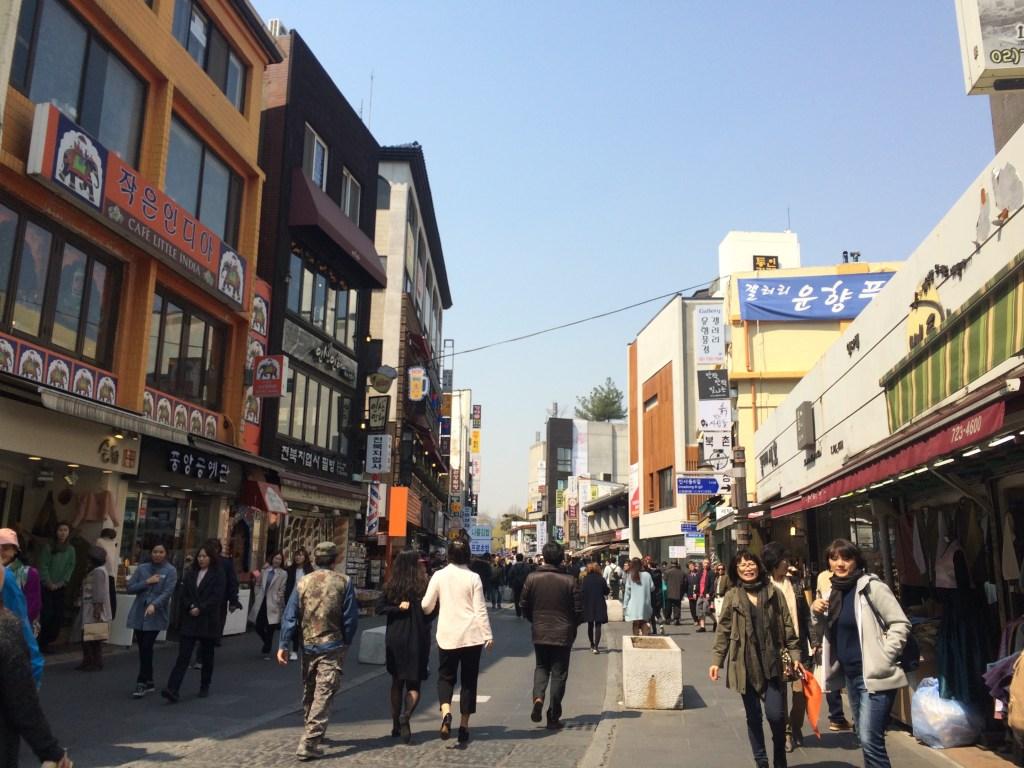 Insadong Street in Seoul