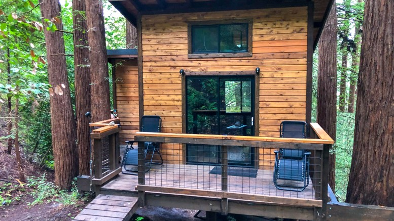 weekend in the santa cruz mountains, treehouse, glamping, california