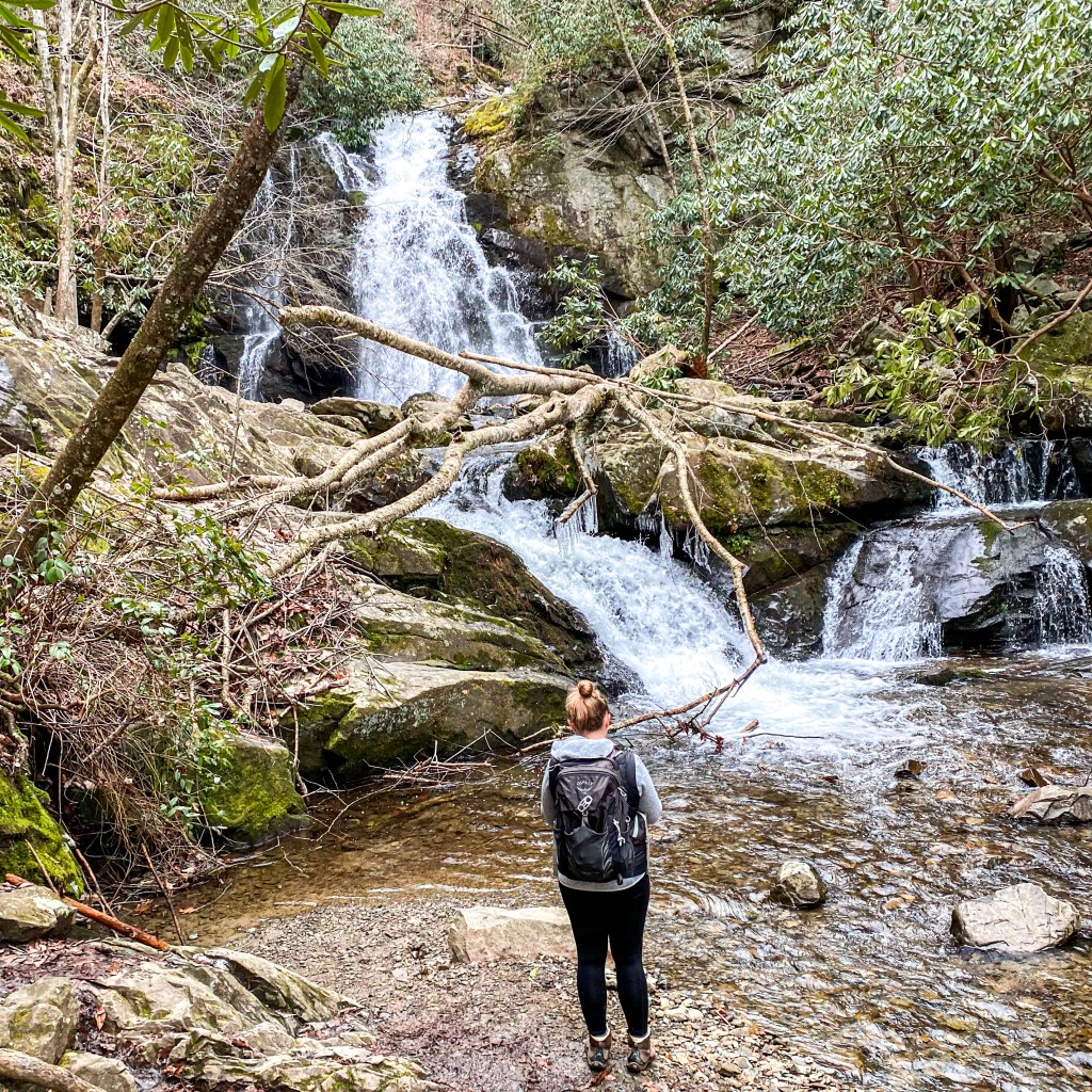 hikes in the great smoky mountains, hikes in the smokies, spruce flats falls