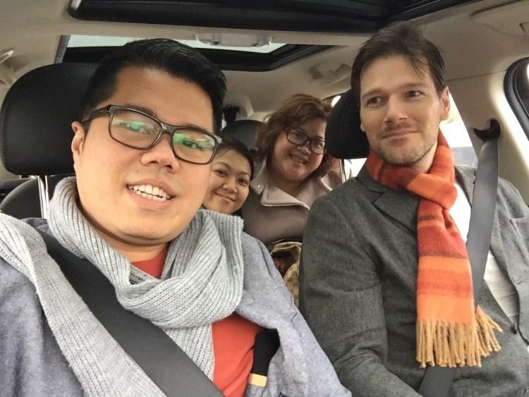 Us in the DriveNow, heading to KaDeWe