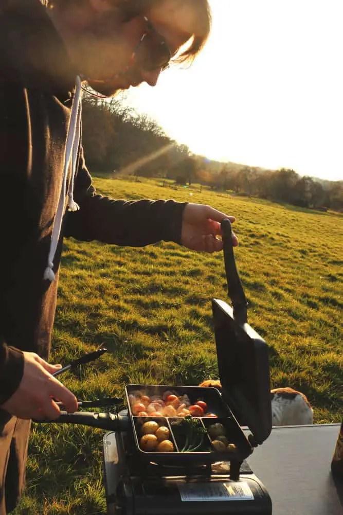 Cooking at Bush Farm