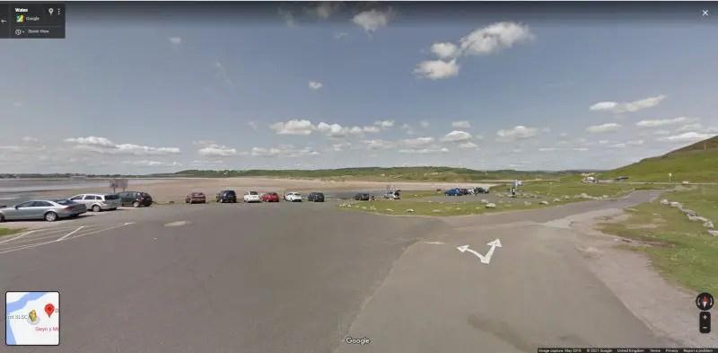 google street view of Ogmore Beach Carpark