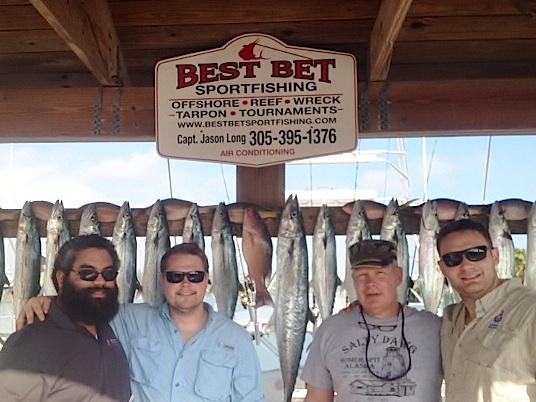Nice cero mackerels caught aboard the Best Bet on 8-pound test.