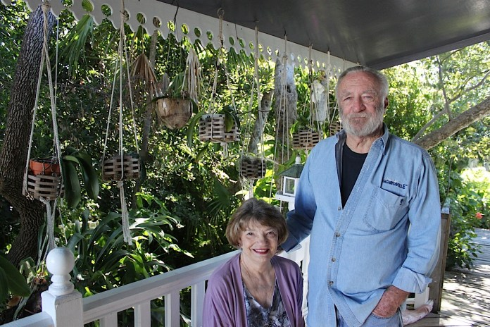 Sandy and Rick Roth met in Marathon at a fish sandwich shop and were married less than a year later. They moved North briefly before coming back to the Keys on the heels of Hurricane Betsy. They raised two girls here, worked here and are now enjoying retirement, travel and wood working and their 15-year-old granddaughter.