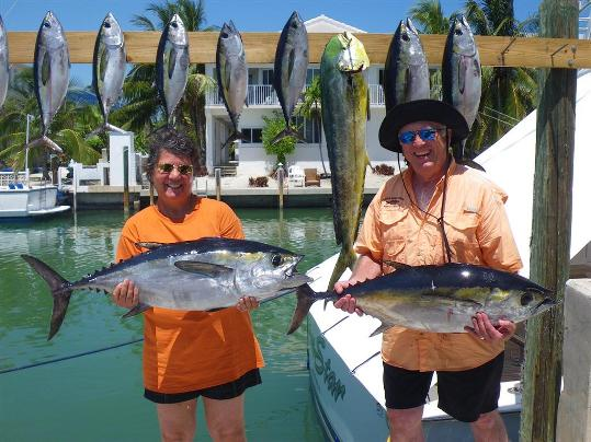 Blackfin Tuna: 33 and 28-pound blackfins caught at the Marathon hump